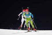 PYEONGCHANG-GUN, SOUTH KOREA - FEBRUARY 12: Miha Dovzan of Slovenia during the Mens Biathlon 12.5km Pursuit at Alpensia Biathlon Centre on February 12, 2018 in Pyeongchang-gun, South Korea. Photo by Nils Petter Nilsson/Ombrello               ***BETALBILD***