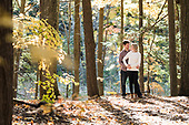 Jen & Spencer's Fall Huron Natural Area Engagement Session