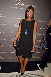 LONDON, ENGLAND 8 DECEMBER 2016: Denise Lewis at the Omega Constellation Globemaster Dinner at Marcus, The Berkeley Hotel, Wilton Place, London England. 8 December 2016.