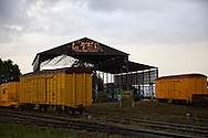 Train yard in Antilla, Holguin, Cuba.