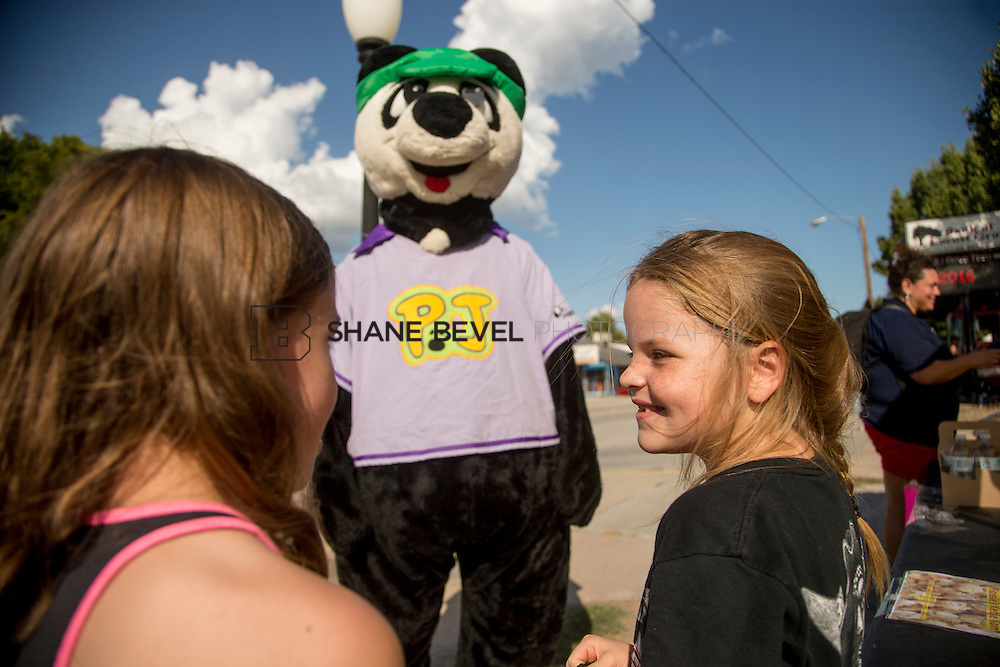 9/24/16 4:20:16 PM --  PJ Panda appears at a car show in Locust Grove for Children's Miracle Network. <br /> <br /> Photo by Shane Bevel