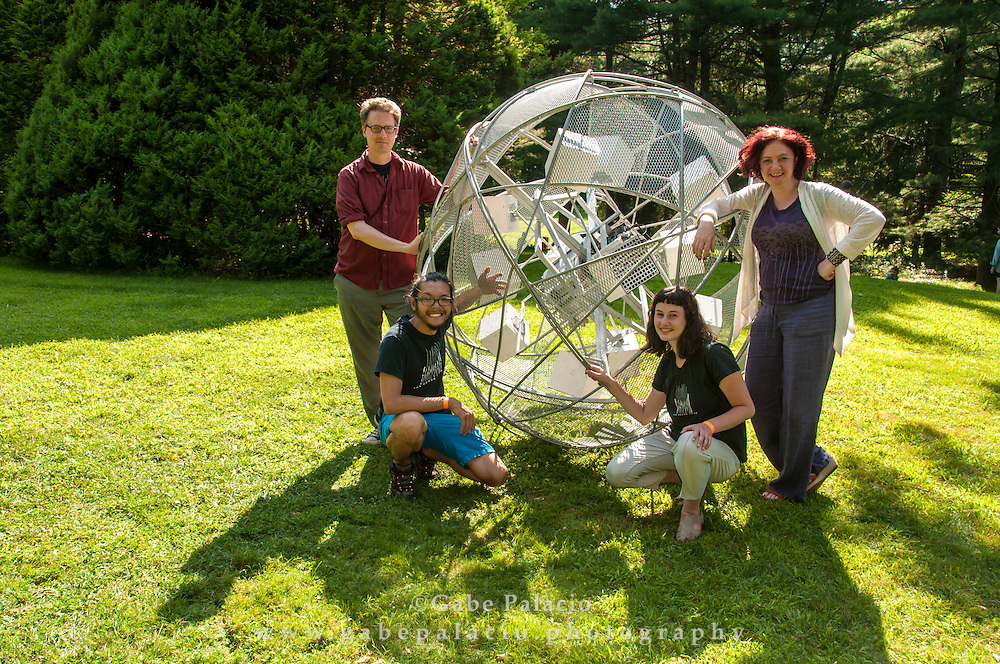 The Sisyphus 2.0 sound art piece at the Sonic Delights Festival celebrating the In the  Garden of Sonic Delights sound art exhibition at Caramoor in Katonah New York on July 20, 2014. <br /> (photo by Gabe Palacio)