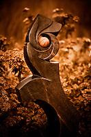 Zimsculpt at Van Dusen Botanical Garden: New Beginnings - serpentine sculpture by Lucky Mupinga (original sculpture available at www.zimsculpt.com)
