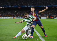FUSSBALL   INTERNATIONAL   CHAMPIONS LEAGUE   2012/2013      FC Barcelona - Celtic FC Glasgow       23.10.2012 Jordi Alba (re, Barca) gegen James Forrestn (Celtic)