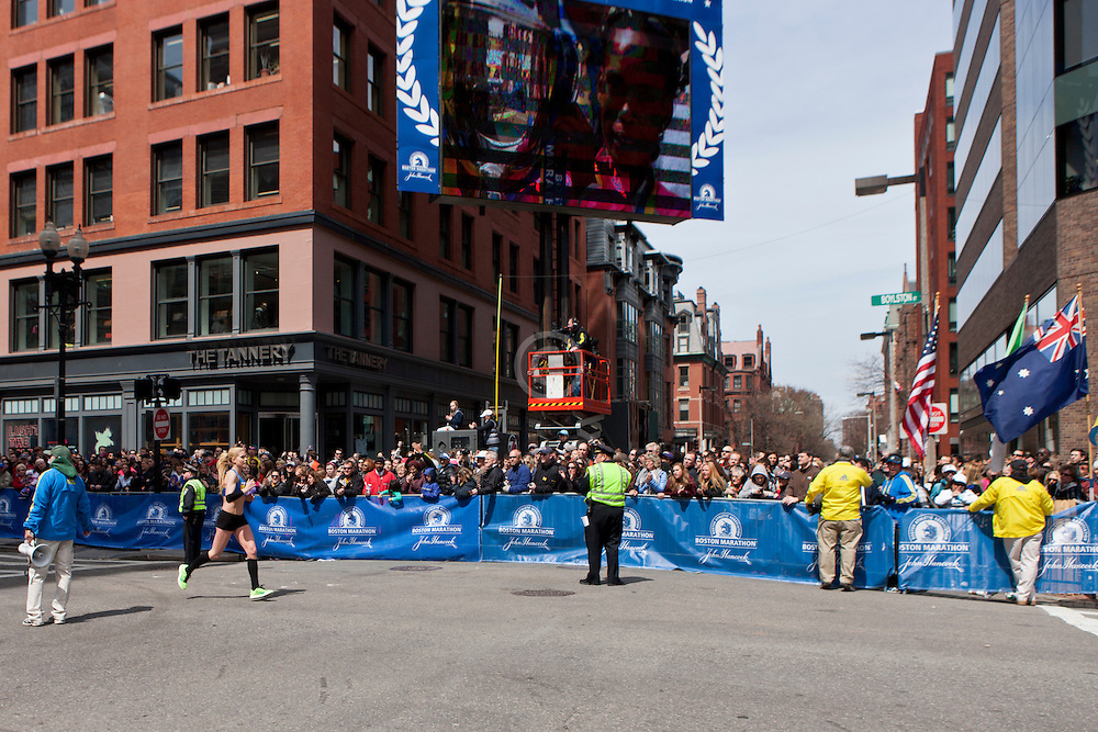 2013 Boston Marathon: Erica Jesseman finishes race on Boylston Street