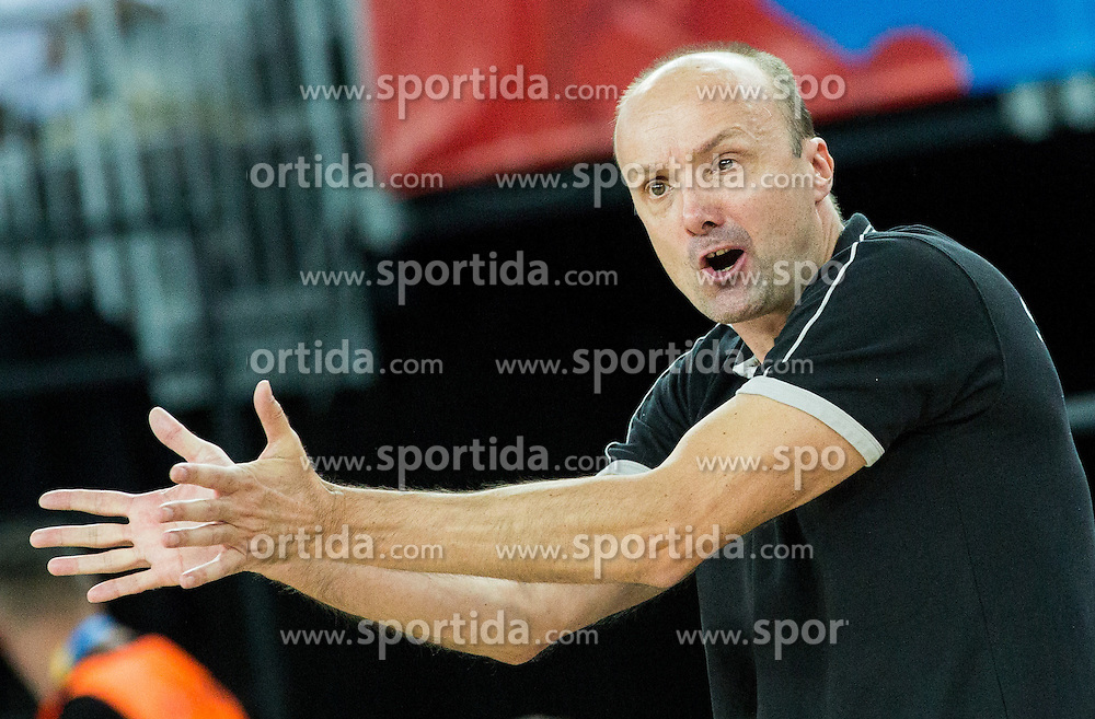 Jure Zdovc, head coach of Slovenia during basketball match between Slovenia vs Netherlands at Day 4 in Group C of FIBA Europe Eurobasket 2015, on September 8, 2015, in Arena Zagreb, Croatia. Photo by Vid Ponikvar / Sportida