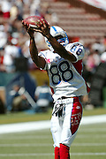 HONOLULU, HI - FEBRUARY 8:  Indianapolis Colts wide receiver Marvin Harrison #88 of the AFC squad at the 2004 NFL Pro Bowl game against the NFC at Aloha Stadium on February 8, 2004 in Honolulu, Hawaii. The NFC defeated the AFC 55-52. ©Paul Spinelli/SpinPhotos *** Local Caption *** Marvin Harrison