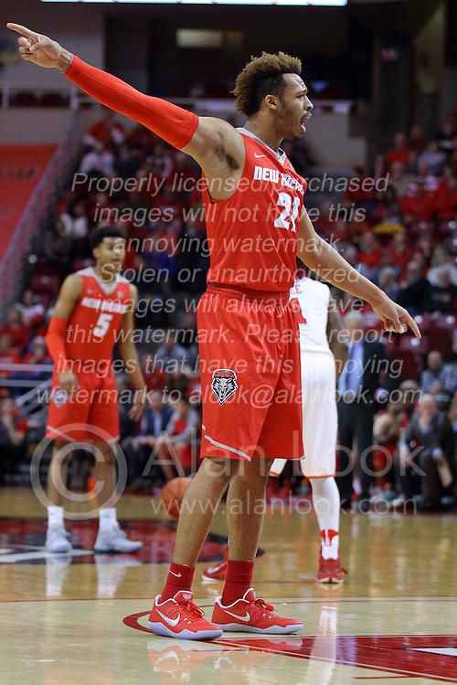 03 December 2016: Xavier Adams during an NCAA  mens basketball game between the New Mexico Lobos the Illinois State Redbirds in a non-conference game at Redbird Arena, Normal IL