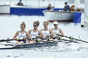 Henley, GREAT BRITAIN. Junior Women's Quadruple Sculls, Henley RC. winning the final at 2012 Henley Royal Regatta.  ..Sunday  12:28:06  01/07/2012. [Mandatory Credit, Peter Spurrier/Intersport-images]...Rowing Courses, Henley Reach, Henley, ENGLAND . HRR.