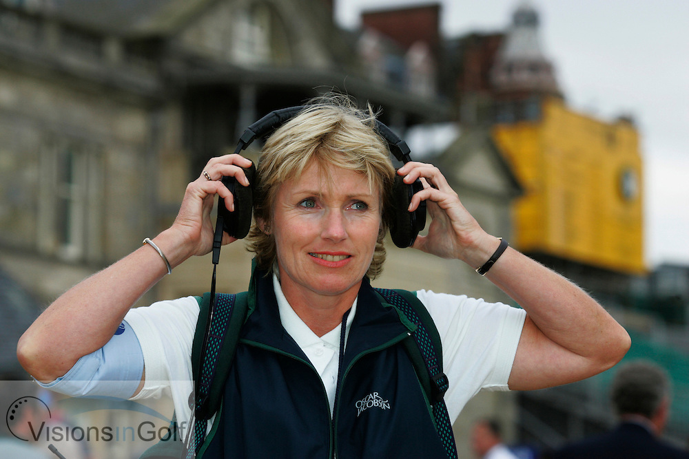 Gillian Stewart commentating at the Open.<br />