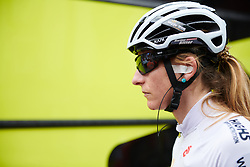 Martina Ritter (AUT) makes her way to sign on at Emakumeen Bira 2018 - Stage 3, a 114.5 km road race starting and finishing in Aretxabaleta, Spain on May 21, 2018. Photo by Sean Robinson/Velofocus.com