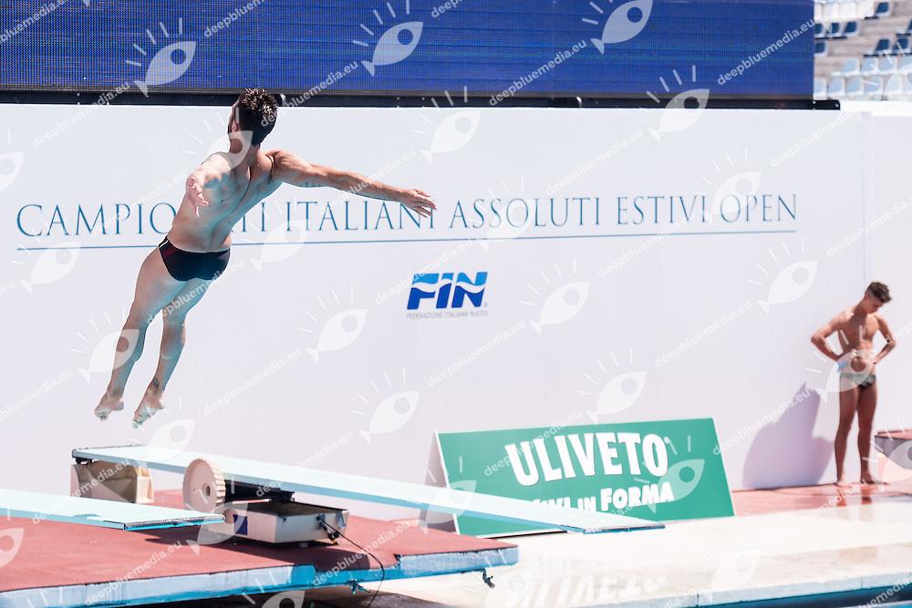 BENEDETTI Michele Marina Militare CS Nuoto<br /> 1m springboard trampolino men preliminary<br /> Stadio del Nuoto, Roma<br /> FIN 2016 Campionati Italiani Open Assoluti Tuffi<br /> <br /> day 02 21-06-2016<br /> Photo Giorgio Scala/Deepbluemedia/Insidefoto