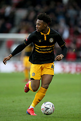Newport County's Antoine Semenyo during the FA Cup fourth round match at Riverside Stadium, Middlesbrough.