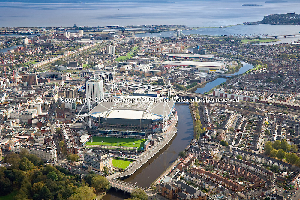 Town Centre &amp; Cardiff Bay (featuring Millennium Stadium, Cardiff Castle &amp; River Taff)<br /> Cardiff<br /> Aerial<br /> South<br /> Towns &amp; Villages