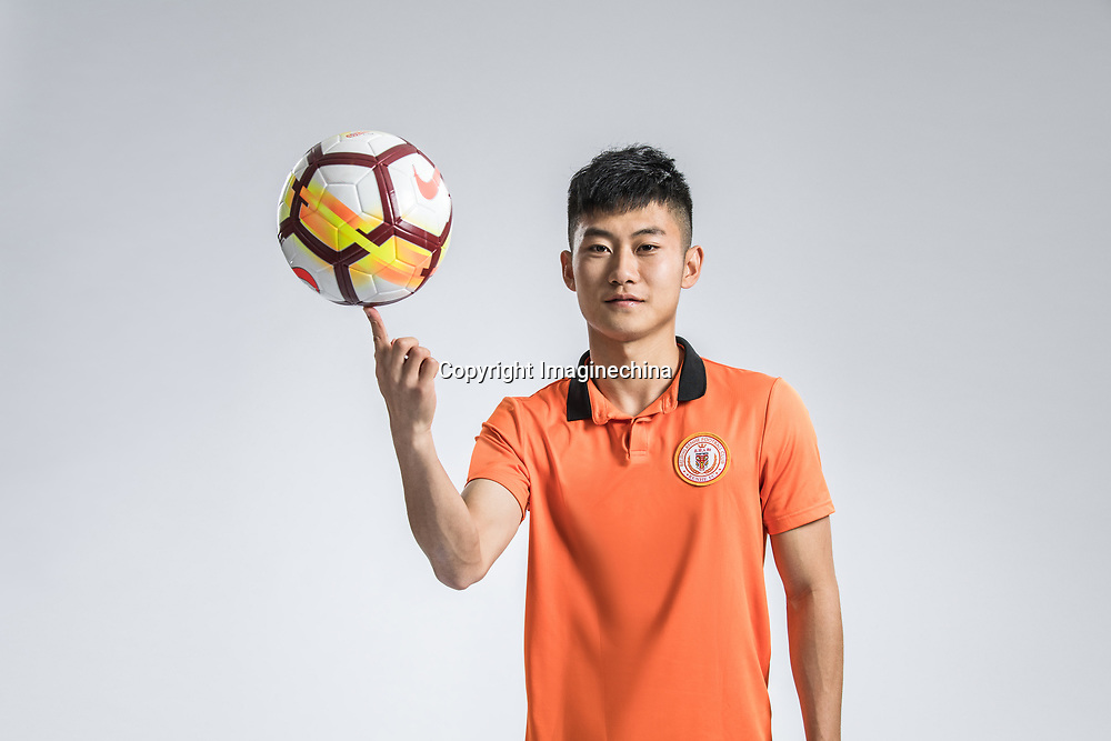 **EXCLUSIVE**Portrait of Chinese soccer player Chen Liming of Beijing Renhe F.C. for the 2018 Chinese Football Association Super League, in Shanghai, China, 24 February 2018.