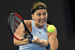 BEIJING, Oct. 5, 2017  Petra Kvitova of Czech Republic returns the ball during the women's singles third round match against Caroline Wozniacki of Denmark at the China Open tennis tournament in Beijing on Oct. 5, 2017. Petra Kvitova won 2-0.  wll) (Credit Image: © Ju Huanzong/Xinhua via ZUMA Wire)