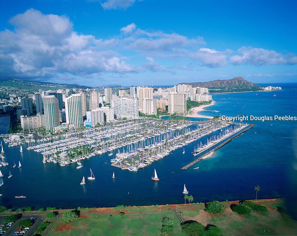 Ala Wai Yacht Harbour, Waikiki, Oahu, Hawaii, USA<br />