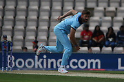 Liam Plunkett bowling during the ICC Cricket World Cup 2019 warm up match between England and Australia at the Ageas Bowl, Southampton, United Kingdom on 25 May 2019.