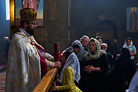 Armenie, Etchmiadzin, messe à l'eglise Saint Gayane // Armenia, Etchmiadzin, mass at Saint Gayane church