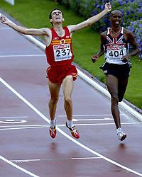13-08-2006 ATLETIEK: EUROPEES KAMPIOENSSCHAP: GOTHENBURG <br /> Espana, Jesus SPA pakt het goud op de 5000 meter. De Engelsman Farah, Mohammed het zilver<br /> ©2006-WWW.FOTOHOOGENDOORN.NL