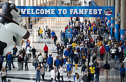 Fans attend fanfest prior to during the Chick-fil-A Bowl Game at  the Mercedes-Benz Stadium, Saturday, December 29, 2018, in Atlanta. (AJ Reynolds via Abell Images for Chick-fil-A Kickoff)