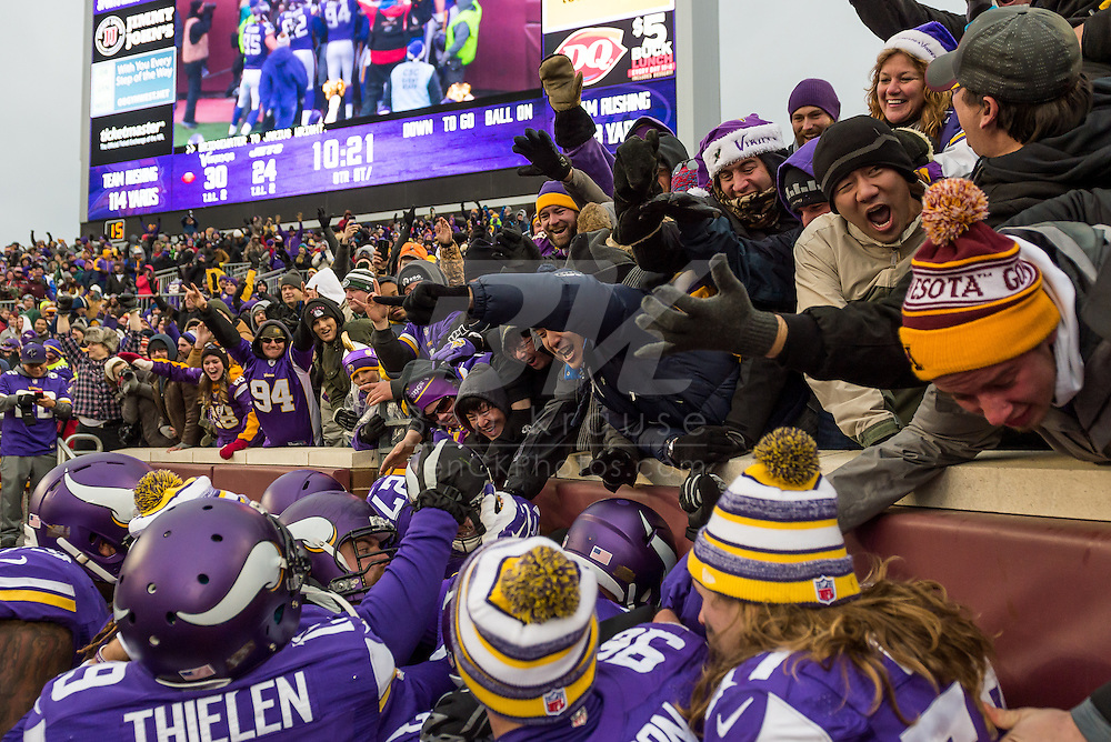Minnesota Vikings vs. New York Jets on December 7, 2014 at TCF Bank Stadium in Minneapolis, Minnesota.  Photo by Ben Krause/Minnesota Vikings