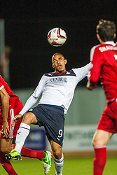 Falkirk's Phil Roberts. Falkirk 0 v 5 Aberdeen, the third round of the Scottish League Cup.<br /> &copy;Michael Schofield.