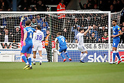 Peterborough Utd forward Matthew Godden (9) scores the opening goal 1-0 during the EFL Sky Bet League 1 match between Peterborough United and Wycombe Wanderers at London Road, Peterborough, England on 2 March 2019.