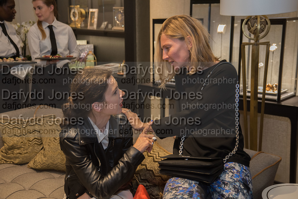 LARA BOHINC; ELIZABETH VON GUTTMAN, preview of 'UNBRIDLED SYNCHRONY', an exhibition of works by photographer Astrid Muñoz. Jaeger-LeCoultre Boutique<br /> 13 Old Bond Street. London. 13 July 2015