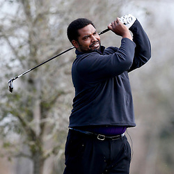Jan 31, 2013; New Orleans, LA, USA; Former NFL player Jonathan Ogden during the NFL Foundation Super Bowl Celebrity Golf Classic at Lakewood Golf Club. Super Bowl XLVII will be played between the San Francisco 49ers and the Baltimore Ravens on February 3, 2013 at the Mercedes-Benz Superdome.Mandatory Credit: Derick E. Hingle-USA TODAY Sports