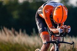 Oscar Riesebeek of Roompot-Nederlandse Loterij, Dutch Individual Time Trial Nationals Men Elite, Stokkum, Montferland, The Netherlands, 21 June 2017. Photo by Pim Nijland / PelotonPhotos.com | All photos usage must carry mandatory copyright credit (Peloton Photos | Pim Nijland)