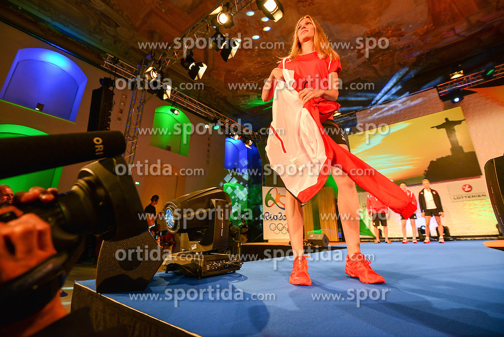 17.07.2016, Aula der Wissenschaften, Wien, AUT, Olympia, Rio 2016, Einkleidung OeOC, im Bild // during the outfitting of the Austrian National Olympic Committee for Rio 2016 at the Aula der Wissenschaften in Wien, Austria on 2016/07/17. EXPA Pictures © 2016, PhotoCredit: EXPA/ Erich Spiess