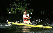 FISA World Cup 1990's, at Lucerne International Regatta, Lake Rotsee, Lucerne SWITZERLAND and Henley Royal Regatta..DEN W1X Pictures from the first World Cup events, Men's and Women's singles 1990/91 FISA World Cup Lucerne and