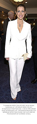 TV presenter KIRSTY GALLACHER, at an award ceremony on 12th March 2002.OYG 221