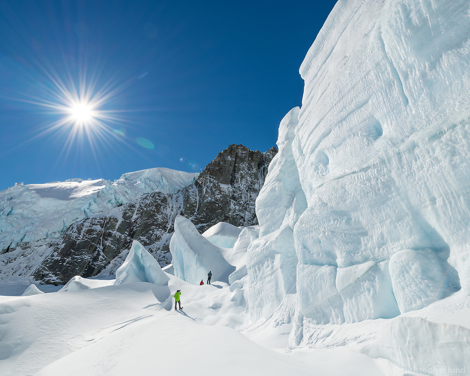Trekking on The Tasman Glacier (Haupapa) which is the largest glacier in New Zealand, and one of several large glaciers which flow south and east towards the Mackenzie Basin from the Southern Alps in New Zealand's South Island.