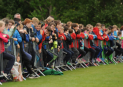 Kids from the local primary schools in Westport added plenty of colour and atmosphere during the Uefa U16 game between the Republic of Ireland and Denmark.<br />Pic Conor McKeown