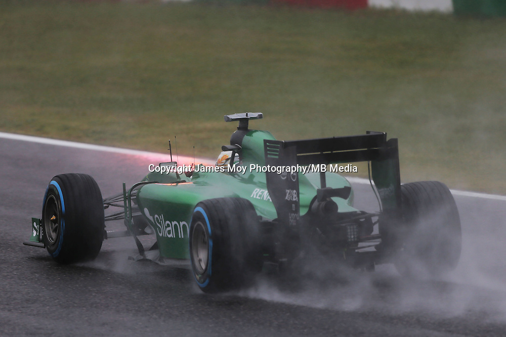 Kamui Kobayashi (JPN) Caterham CT05.<br /> Japanese Grand Prix, Sunday 5th October 2014. Suzuka, Japan.