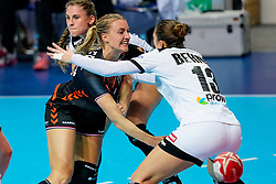 08-12-2019 JAP: Netherlands - Germany, Kumamoto<br /> First match Main Round Group1 at 24th IHF Women's Handball World Championship, Netherlands lost the first match against Germany with 23-25. / Kelly Dulfer #18 of Netherlands