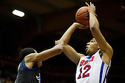 DALLAS, TX - JANUARY 6:  Nick Russell #12 of the SMU Mustangs shoots the ball against the Tulsa Golden Hurricane on January 6, 2013 at Moody Coliseum in Dallas, Texas.  (Photo by Cooper Neill/Getty Images) *** Local Caption *** Nick Russell