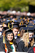 Students listen at the University of Rochester's Commencement Ceremony on Sunday, May 18, 2014.