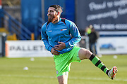 Forest Green Rovers Sam Wedgbury(8) warming up during the FA Trophy match between Macclesfield Town and Forest Green Rovers at Moss Rose, Macclesfield, United Kingdom on 4 February 2017. Photo by Shane Healey.