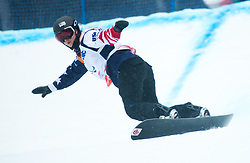 March 16, 2018 - Pyeongchang, South Korea - BRENNA HUCKABY of the US on her second run in the Snowboard Banked Slalom event at Jeongseon Alpine Center at the Pyeongchang Winter Paralympic Games.  Huckaby won the gold.  (Credit Image: © Mark Reis via ZUMA Wire)