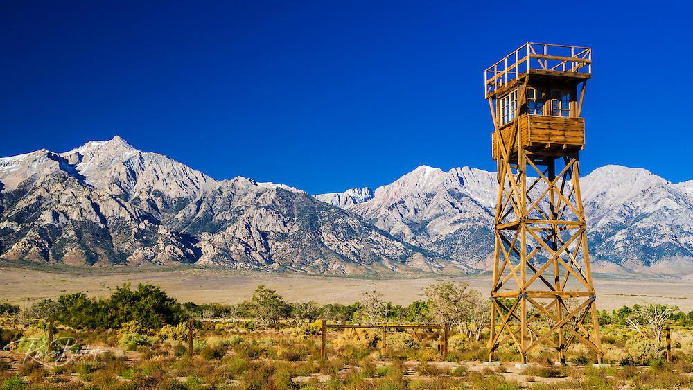 Guard tower at Manzanar National Historic Site, Lone Pine, California USA