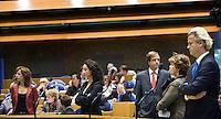 Nederland. Den Haag, 18 september 2008.<br /> Aan de interruptiemicrofoon : Kant, halsema, Pechtold, Verdonk en Wilders.<br /> Foto Martijn Beekman<br /> NIET VOOR PUBLIKATIE IN LANDELIJKE DAGBLADEN.