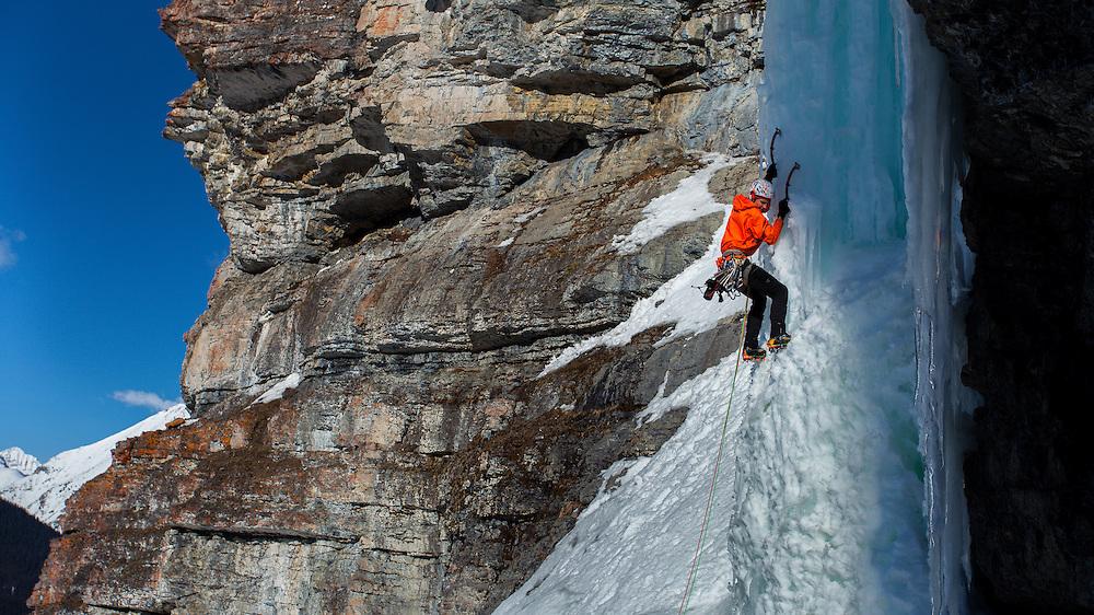 Maury Ice Climbing Pass Too Far - Kananaskis - First Ascent