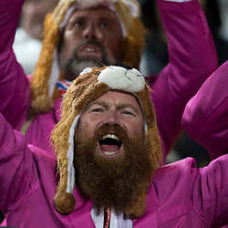 British & Irish Lions Fan during game 9 of the British and Irish Lions 2017 Tour of New Zealand, the second Test match between  The All Blacks and British and Irish Lions, Westpac Stadium, Wellington, Saturday 1st July 2017<br /> (Photo by Kevin Booth Steve Haag Sports)<br /> <br /> Images for social media must have consent from Steve Haag