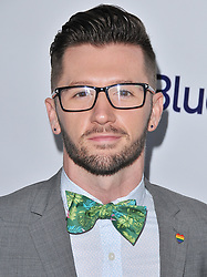 Travis Wall arrives at Jessie Tyler Ferguson's 'Tie The Knot' 5 Year Anniversary celebration held at NeueHouse Hollywood in Los Angeles, CA on Thursday, October 12, 2017. (Photo By Sthanlee B. Mirador/Sipa USA)