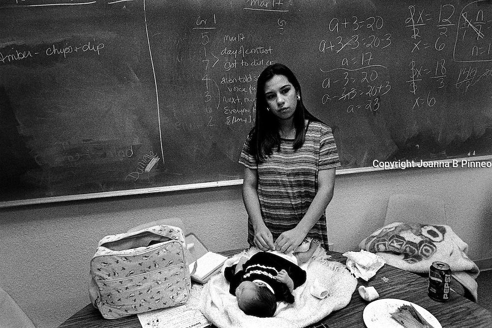 Shantel returns to school with baby Iris.
