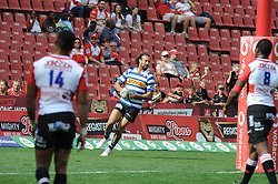 Johannesburg. 15-09-18 Emirates Airline Park. Rugby Currie Cup.  Lions vs Western Province(WP).  Dillyn Leyds scores a try during the first half. <br /> Picture: Karen Sandison/African News Agency(ANA)