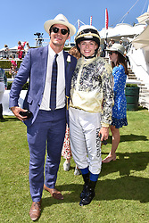 Rosie Tapner and Elliot Manley at the Qatar Goodwood Festival - Glorious Goodwood, Goodwood Racecourse, West Sussex 02 August 2018.